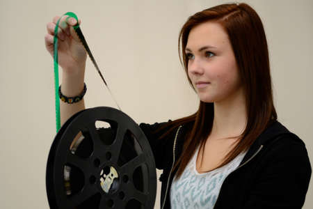 curiously: Teenager looking curiously historical film role