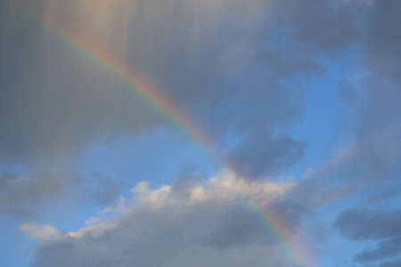 cloudiness: Rainbow with changeable cloudiness