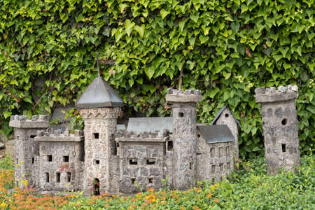 contributes: self-built model castle contributes to Landscaping in