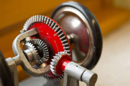 differential: Differential gear - Model Close-up Stock Photo