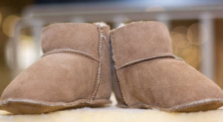 Suede shoes for babies