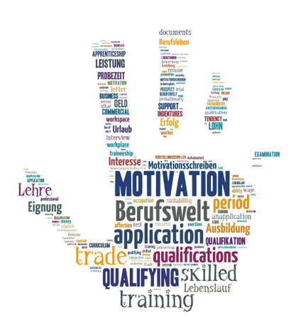 Isolated Word Cloud - concepts about application and career Stock Photo