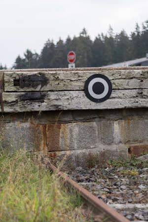 buffers: Buffers yet terminus of a railway track