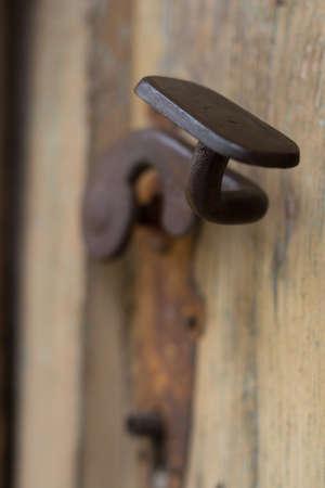 door handle: Old rusty door handle Stock Photo