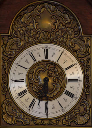 dial plate: Detail of a large decorative clock Stock Photo
