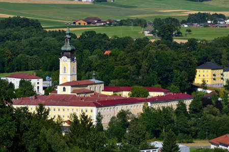 upper austria: monastery Schlaegl in Upper Austria in the summer Stock Photo