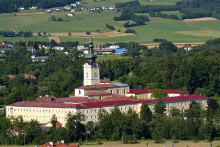upper austria: Convent Schlaegl in Upper Austria in the summer - austria