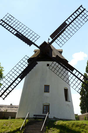 wind force: historically preserved windmill in Burgenland - austria