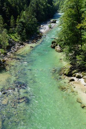 regionally: emerald green clean water of the stream Salza - Austria