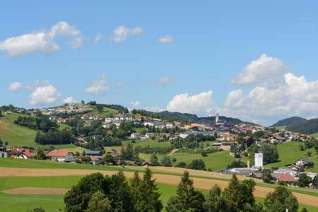 upper austria: idyllic rural town Peilstein im upper austria Stock Photo