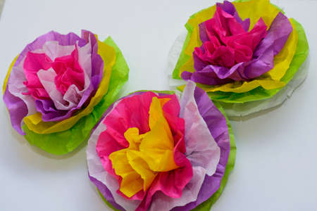 Flowers made of tissue paper in bright colorful colors stock photo flowers made of tissue paper in bright colorful colors stock photo 93596726 mightylinksfo
