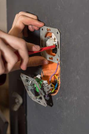 Craftsman screws screwdriver to circuits on wall