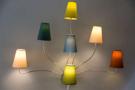 romantic and stylish lights - wall lamps for interior lighting, optional picture