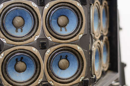 old nostalgic loudspeakers for music and volume