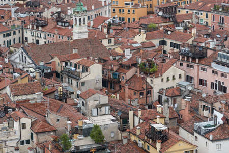 Detail of a panoramic view of the old town of Venice - Italy Standard-Bild