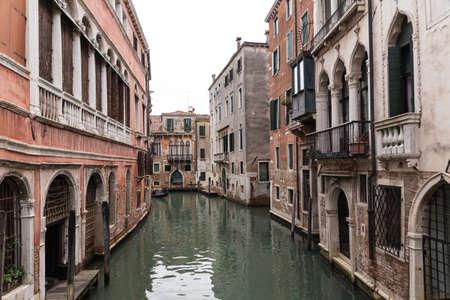 Waterways worth seeing in the lagoon city of Venice - Italy Standard-Bild