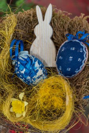 colorful Easter basket - tradition and symbol for Easter Standard-Bild