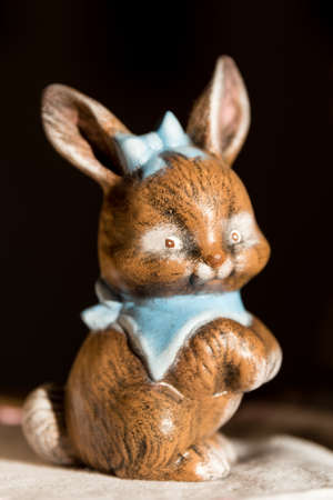 Small ceramic Easter bunny - hand-painted Easter decoration