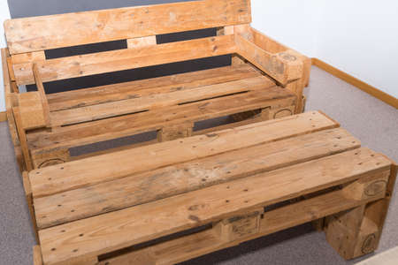 original furniture made from euro pallets - sustainability and upcycling
