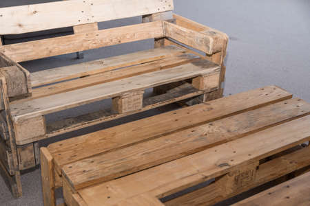 rustic solid wood furniture made from pallets - upcycling furniture, table and bench