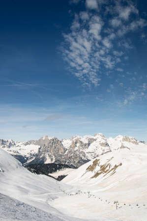 Dolomiti skiing Stock Photo - 39344948