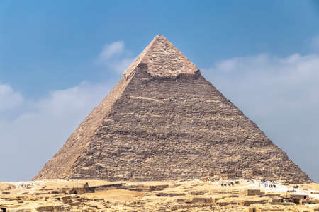 The Pyramid of Khafre or of Chephren, is the second-tallest and second-largest of the Ancient Egyptian Pyramids of Giza and the tomb of the Fourth-Dynasty pharaoh Khafre (Chefren), who ruled from c. 2558 to 2532 BC