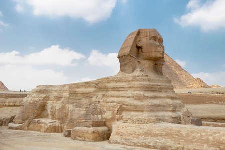 The Sphinx in Giza pyramid complex