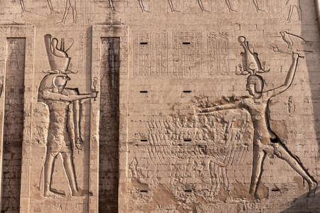 Edfu Temple, Dedicated to the Falcon God Horus, Located on the west bank of the Nile, Edfu, Upper Egypt