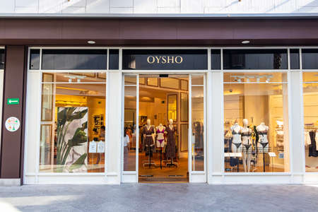 Huelva, Spain - July 27, 2020: Oysho Store in Holea Shopping center. Oysho is a Spanish clothing retailer specialized in women's underwear, casual clothing, comfortable and accessories.