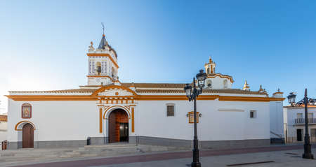 Church of Our Lady of the Assumption in the town of Bonares, Huelva, Andalucia, Spain Stock Photo