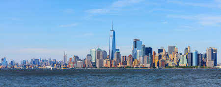 panoramic view of Manhattan skyline