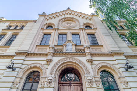 The Nozyk Synagogue, prewar Jewish house of prayer, the only surviving WW2 in Warsaw Stock Photo