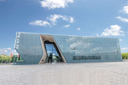 Facade of Museum of the History of Polish Jews 'Polin'