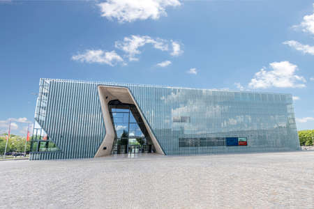 Warsaw, Poland May 31, 2018: Museum of the History of Polish Jews 'Polin' Editorial