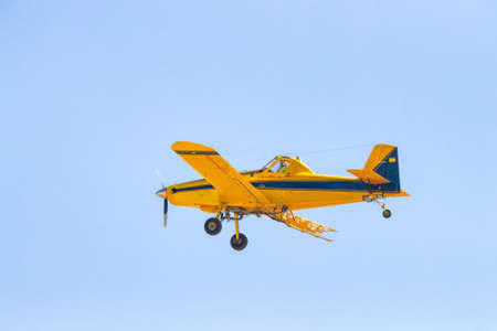 Agricultural Fumigation Aircraft carrying out fumigation work against mosquitoes Reklamní fotografie