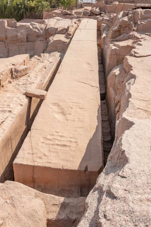 The Unfinished Obelisk, the heaviest obelisk ever cut in Ancient Egypt in the city of Aswan.