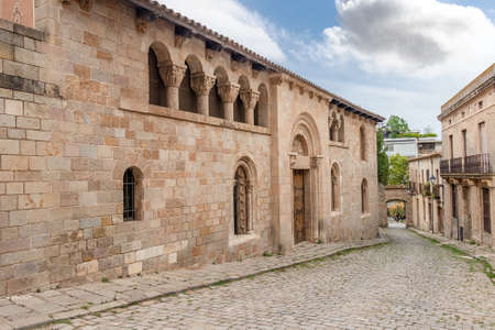 Exterior of the Monastery of Santa María de Pedralbes. The Royal Monastery of Santa María de Pedralbes is a set of Gothic-style monuments located in the city of Barcelona, catalonia, spain