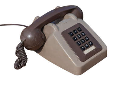 An old and dirty number pad telephone Stockfoto