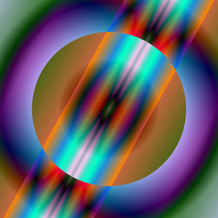 Digital art, abstract three-dimensional objects with soft lighting Stock Photo