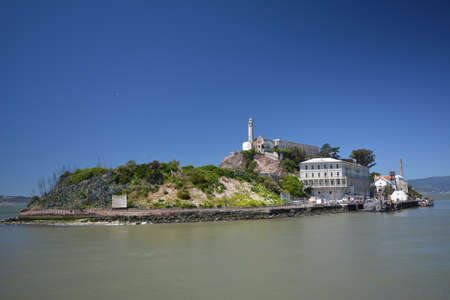 Impressions from the island of Alcatraz in the Bay of San Francisco from May 1, 2017, California USA Editorial