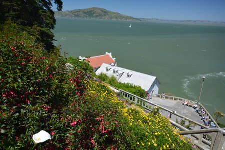 alcatraz: Impressions from the island of Alcatraz in the Bay of San Francisco from May 1, 2017, California USA Editorial