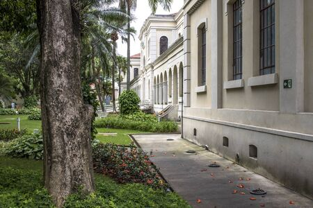 alf: Sao Paulo, SP, Brazil, February 03, 2017. Facade of the Museum of Immigration of the State of Sao Paulo, which operates at the headquarters of the extinct Hospedaria dos Imigrantes, in the Bras neighborhood, east of Sao Paulo, SP. For several years the mu