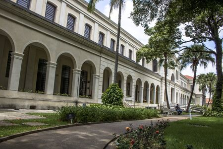 alf: Sao Paulo, SP, Brazil, February 10, 2017. Facade of the Museum of Immigration of the State of Sao Paulo, which operates at the headquarters of the extinct Hospedaria dos Imigrantes, in the Bras neighborhood, east of Sao Paulo, SP. For several years the mu