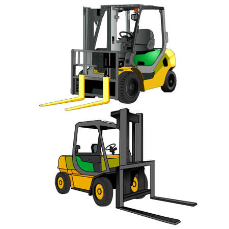 Forklift Heavy Duty Vector illustration. Ilustracja