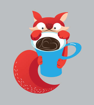 Little Foxs morning coffee. Good morning. Awake