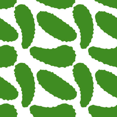 seamless pattern of cucumber on a white background is a simple ornament. Vector illustration