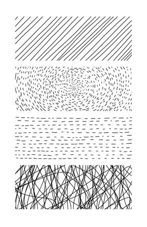 Hand drawn textures. Artistic collection of doodle design elements scribble, lines
