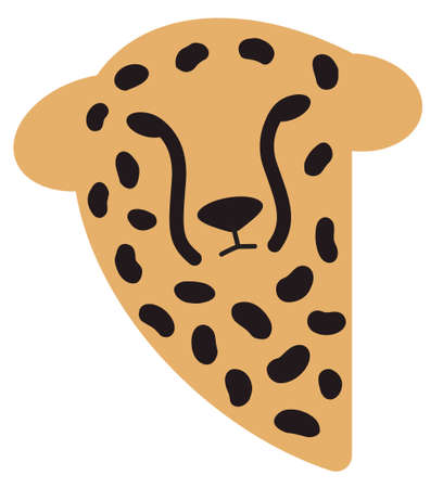 Cheetah head wild animal logo