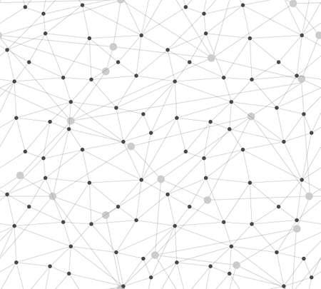 Communication dots and lines Seamless Pattern. Polygonal background, technology design Vector illustration Illusztráció