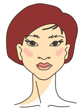 Portrait of asian young woman model
